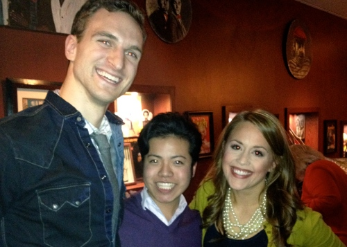With Stephen Grant Douglas and Katie Postotnik, the leads of Ghost The Musical
